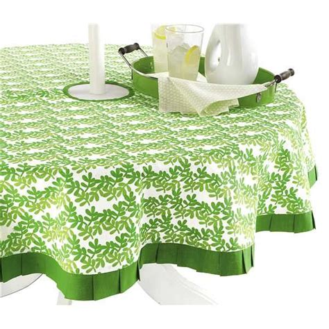 tag green garden umbrella tablecloth 60 quot save 44