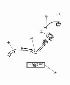 Dodge Stratus Tether  Fuel Filler Cap  Locking