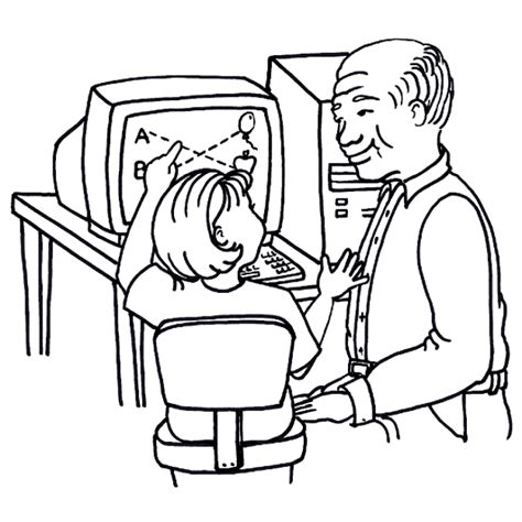 Coloring On Computer by Computer Coloring Pages Coloringpages1001