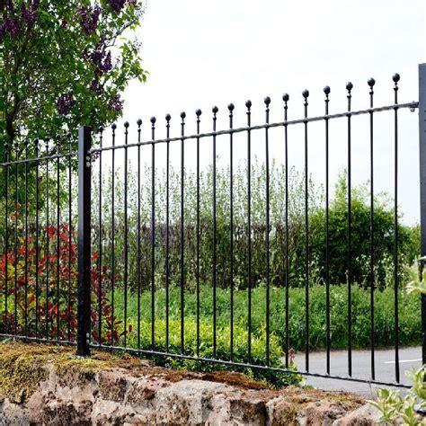 3ft High (900mm) Metpost Wenlock Ball Top Metal Fence