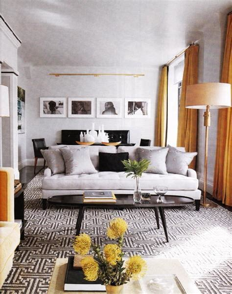 White And Orange Living Room by Orange Curtains Contemporary Living Room Elle Decor
