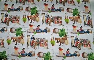 PIERRE FREY RETRO PLAYTIME COTTON TOILE FABRIC WHITE / MULTI