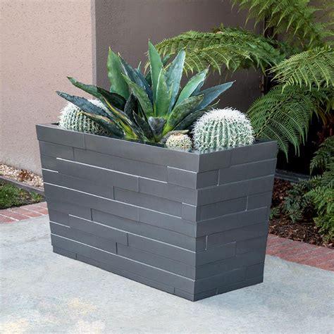large rectangular planters modern rectangular planter boxes indoor outdoor