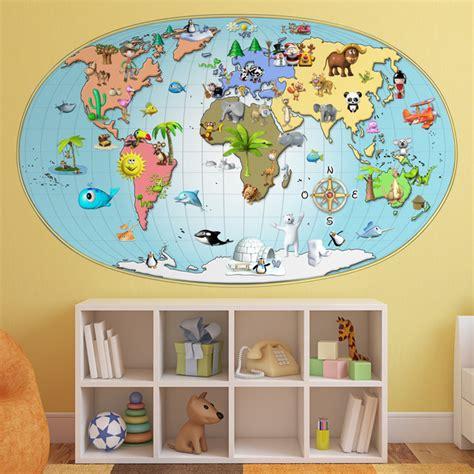 Wandtattoo Kinderzimmer Weltkarte by Wandtattoo Weltkarte Webwandtattoo