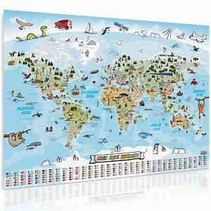 Weltkarte Poster Kinder : kinder weltkarte xxl liebevolle kinderweltkarte ~ Yasmunasinghe.com Haus und Dekorationen