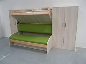 Lit Superposé Ikea 3 Places : lit escamotable superpos ~ Melissatoandfro.com Idées de Décoration