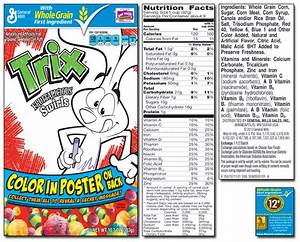 Trix Cereal Nutrition Facts Label – Nutrition Ftempo