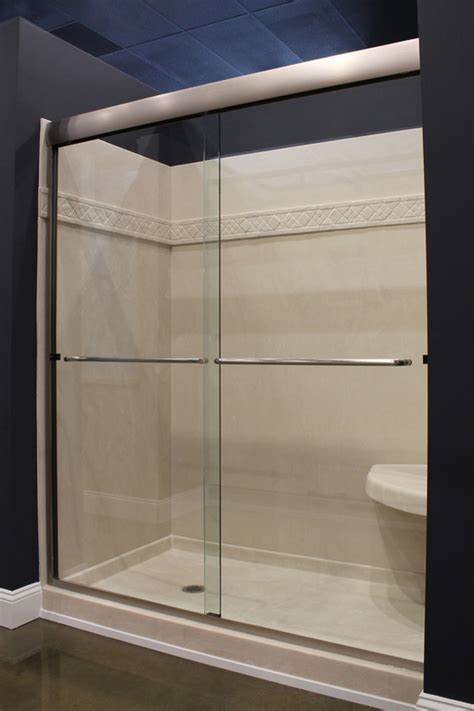 "3/8"" C.R.L. Frameless Shower Slider   Majestic Kitchen & Bath"
