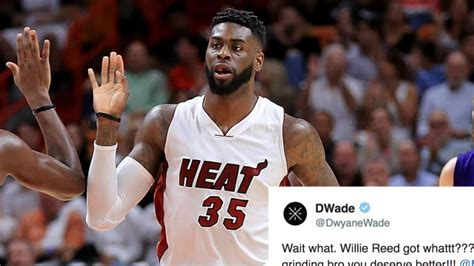 Dwyane Wade's Disgusted Reaction To Willie Reed's New