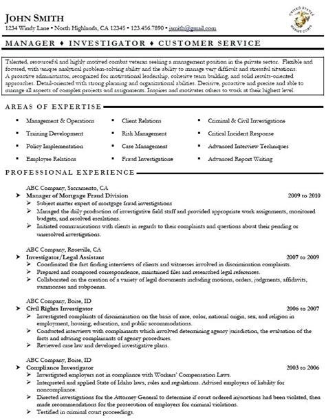 military veteran resume exles military veteran resume