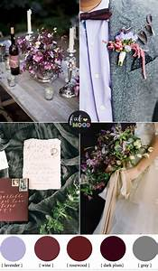 Plum And Wine Wedding Colors For Late Autumn Wedding