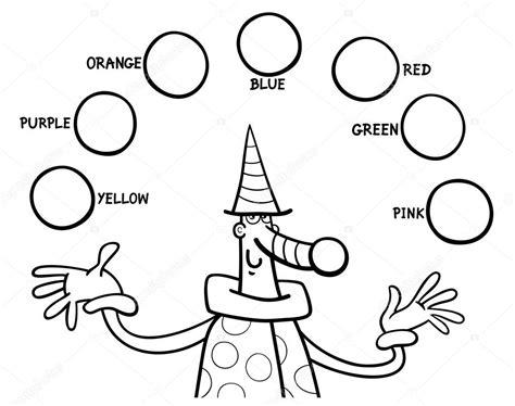 Educatieve Kleurplaat by Hoofdkleuren Educatieve Kleurplaten Taak Stockvector