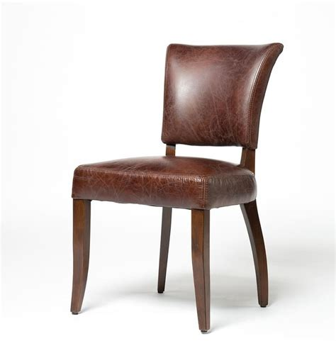 Leather Dining Room Chair by Mimi Biker Leather Dining Chair Zin Home