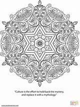 Coloring Psychedelic Mandala Printable Ornaments Supercoloring sketch template