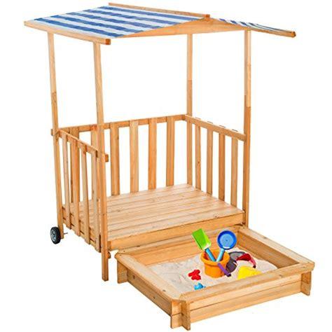 kinderspielhaus mit sandkasten tectake sandkasten mit dach spielhaus spielveranda holz sonnenschutz diverse farben