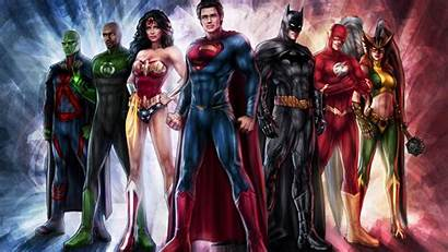 Justice League Superhero Team Dc Comics Background