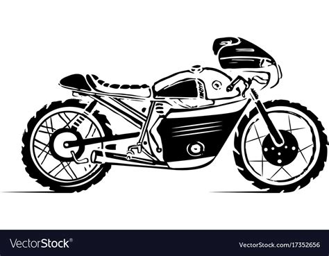 Moto Bike Icon Cafe Racer Royalty Free Vector Image