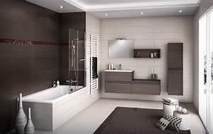 Douche salle de bain design for Salle de bain design avec image encadree décoration