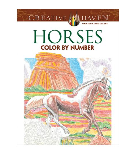 color by number books coloring book creative horses color by number