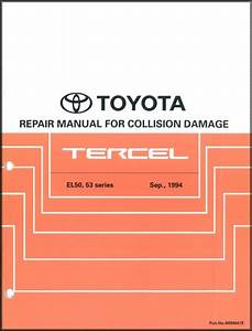 1996 Toyota Tercel Wiring Diagram Manual Original