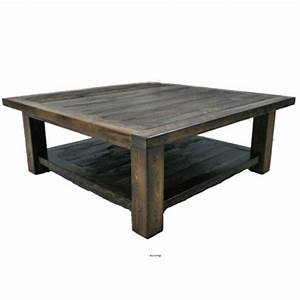 wyoming reclaimed wood square coffee table With square barnwood coffee table