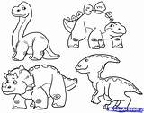 Coloring Cute Dino Pages Dinosaur Drawings Popular sketch template