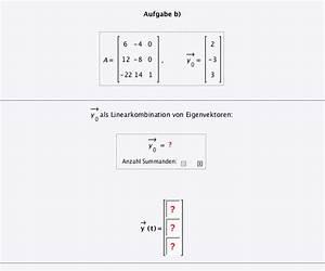 Eigenwerte Einer Matrix Berechnen : linearkombination anfangswertproblem linearkombination von eigenvektoren mathelounge ~ Themetempest.com Abrechnung