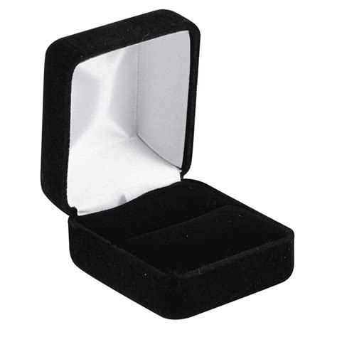 bead landing black velvet ring box
