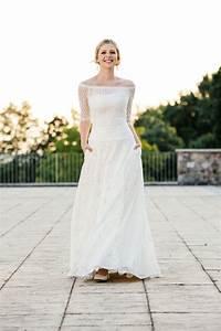 Brautkleid Vintage Schlicht : brautkleid a linie mit taschen traumkleid aus tollem ~ Watch28wear.com Haus und Dekorationen
