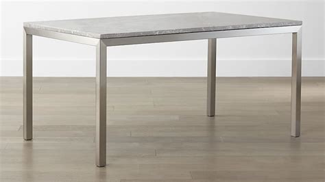 Parsons Grey Marble Top/ Stainless Steel Base Dining