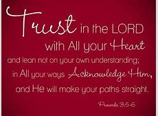 Trust In The Lord Quotes QuotesGram