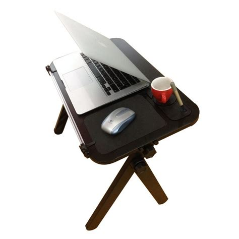 lap desk for keyboard and mouse aluminum laptop table with mouse pad cup and pen holder