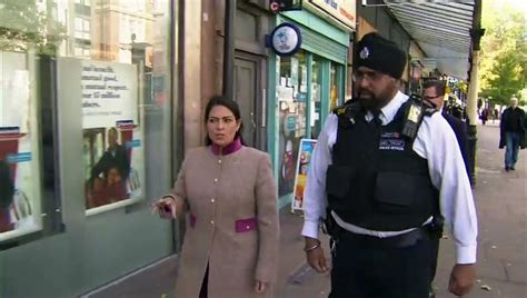 Priti Patel meets officers on Covid-19 - One News Page VIDEO