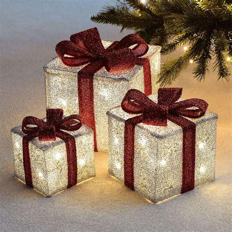 set   led light  festive xmas christmas gift parcel