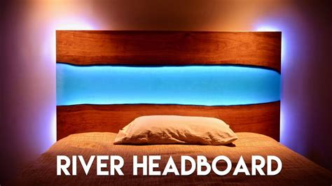 Live Edge Epoxy River Headboard (or Table) With Led Lights