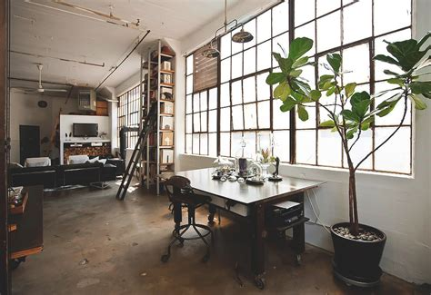 A Small Industrial Apartment With A Home Office Blue Decor by Style Bedroom Design Home City Rustic Architecture