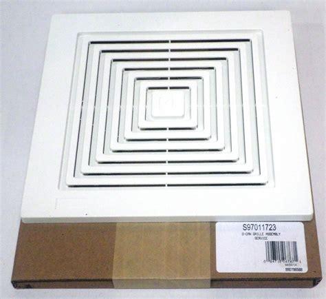bathroom ceiling fan cover 97011723 broan bath bathroom ceiling fan grille grill
