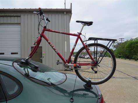suction cup bike rack seasucker talon roof bike rack fork mount vacuum cup