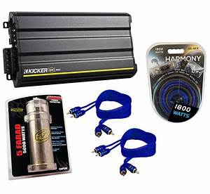 Kicker Cx600 5 Car Audio Multi 5 Channel Speaker Amplifier