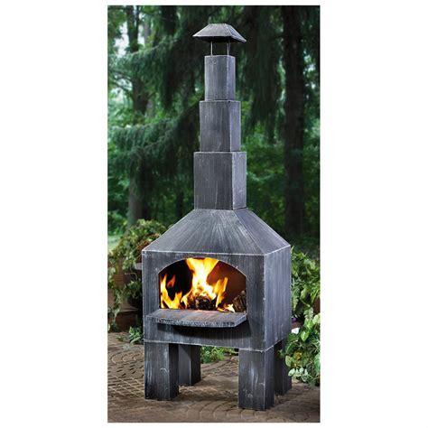 outdoor cuisine castlecreek cabin cooking steel chiminea 281492