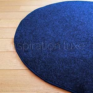 Tapis Sur Mesure Pas Cher : tapis rond bleu tapis rond bleu tapis rond bleu achat vente tapis rond bleu pas cher cdiscount ~ Melissatoandfro.com Idées de Décoration