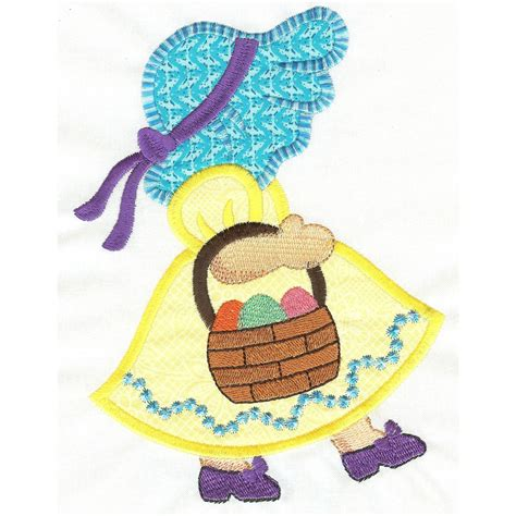 sunbonnet sue applique free easter sunbonnet applique machine embroidery