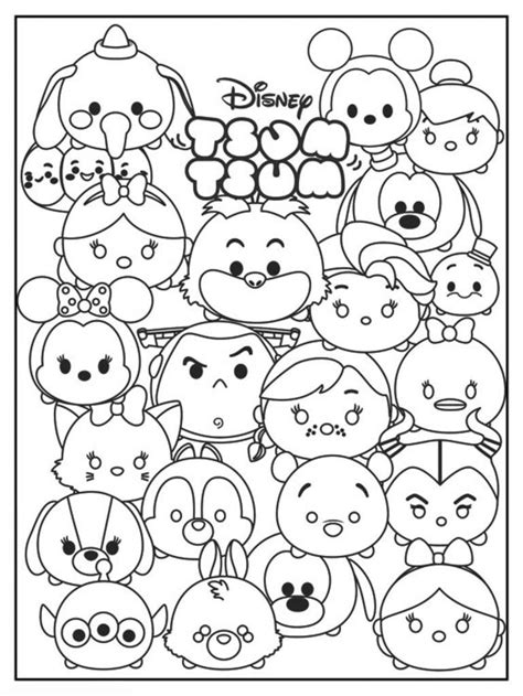 tsum tsum coloring pages  coloring pages  kids