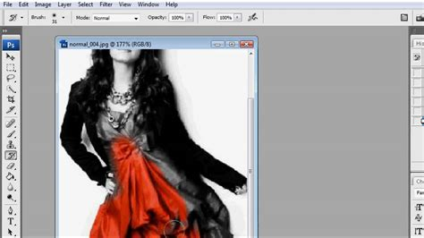 photoshop select one color