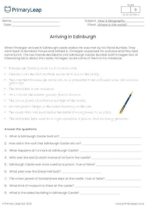 geography  railway station worksheet primaryleapcouk