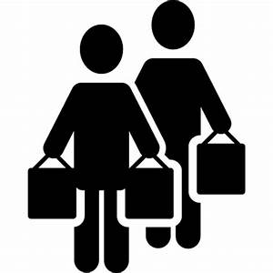 Two Persons Shopping ⋆ Free Vectors, Logos, Icons and ...
