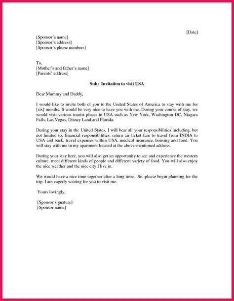 invitation letter to usa invitation letter for visa usa sop exles 12606