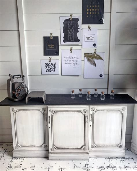 pitch black glazed antique white buffet general finishes