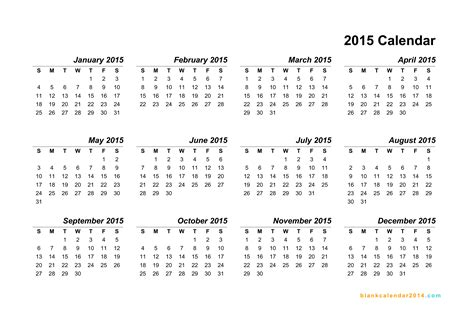 2015 Calendar Year Template Costumepartyrun