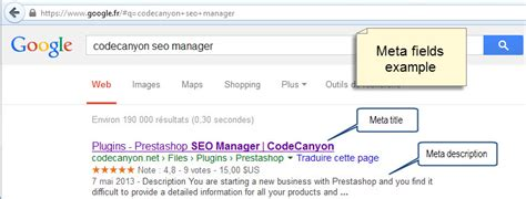 Seo Manager by Prestashop Seo Manager By Onasusweb Codecanyon